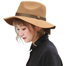 [モニコ] ハット レディース 帽子 中折 中折れハット フェルト つば広 UVハット UVカット ウール 無地 mq17003-nb