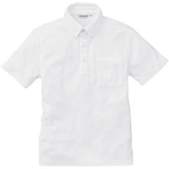 Colnatα   B.Dニットシャツ(半袖) 【東レ/ポケット付】 吸汗速乾・UVカット・消臭 ホワイト SS