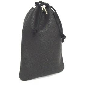 印伝[インデン]合切袋(巾着袋)[印傳屋]INDEN3004 (黒:亀甲柄)