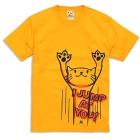 SCOPY (スコーピー) ネコ好き のための 猫柄 Tシャツ JUMP ゴールドイエロー M