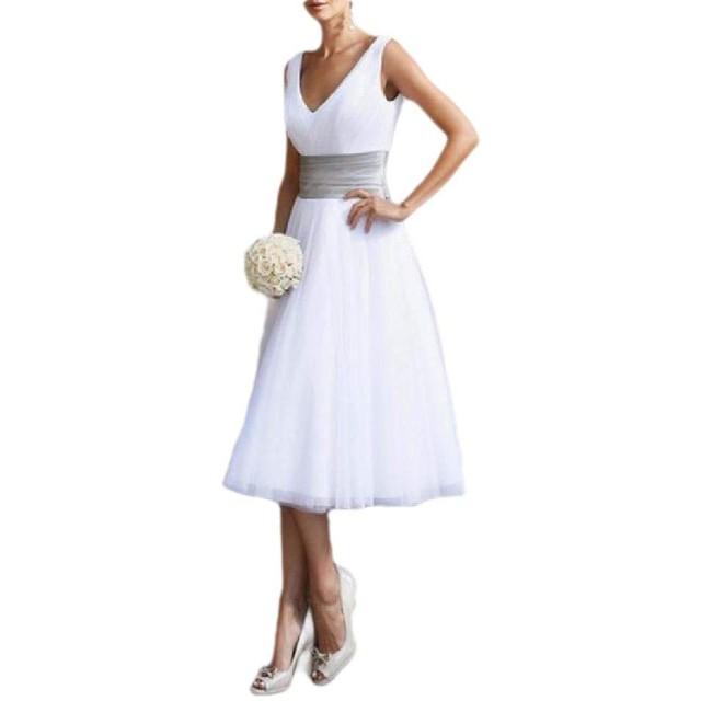 AngelSpace 女性の花嫁介添人のハイウェイトノースリーブセクシーイブニングドレス White XL