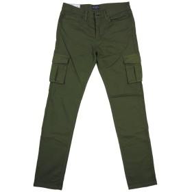 (ビッグスミス)BIG SMITH 日本製 コットンストレッチ素材 6ポケット ミリタリー スリム カーゴパンツ BSM-413 L OLIVE(オリーブグリーン)