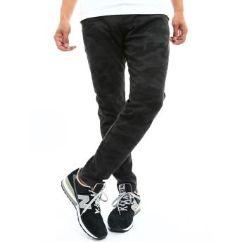 インプローブス ストレッチ 鹿の子 パンツ メンズ ブラックカモフラージュ S サイズ