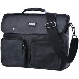 ショルダーバッグ ズックバッグ レーザ皮革製 メンズ バックパック 斜めがけかばん 多機能 大容量 ビジネス 鞄 帆布ズック 肩掛け キャンバス カジュアル リュックサック メッセンジャー 通学 通勤 3way