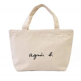 agnes b バッグジッパー バッグ ショルダー レディース 大容量 キャンバス アニエスベー トート (ホワイト) [並行輸入品]