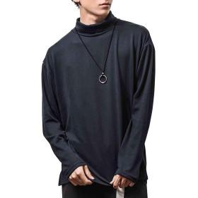 ジョーカーセレクト(JOKER Select) ビッグタートルカットソー メンズ 長袖 タートルネック Tシャツ M ネイビー