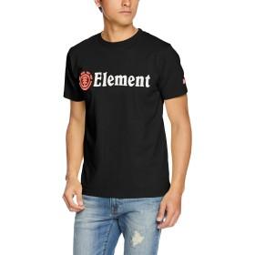 (エレメント)ELEMENT  メンズ  半袖 プリント Tシャツ (USA コットン) [ AI021-200 / HORIZONTAL SS TEE ] おしゃれ AI021-200 BLK BLK_ブラック M