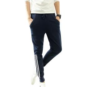 kimurea select スエットパンツ メンズ スウェット スキニーパンツ ジョガーパンツ 3ライン ズボン ジャージ スポーツ ウェアー 部屋着 (Sサイズ, ネイビー)