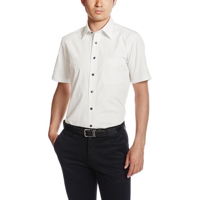 [フェイスミックス] ブロードレギュラーカラー半袖シャツ FB4527U メンズ ホワイト 日本 LL-(日本サイズXL相当)