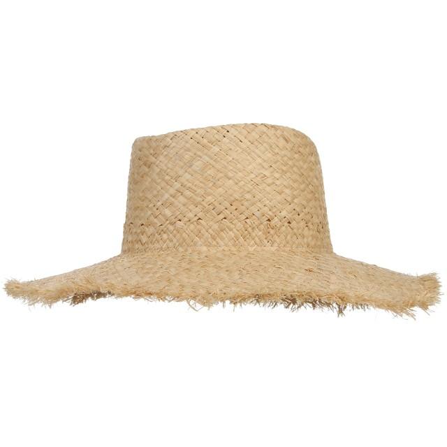 C-Princess 麦わら帽子 ストローハット カンカン帽 日よけ帽 女優帽 ラフィア ハット レディース ダメージ加工 つば広 お洒落 UVカット 旅行