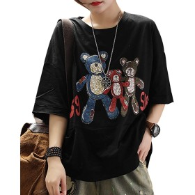 Vigor Girls Tシャツ レディース 半袖 大きめ かわいい 格好いい 薄手 コットン 綿100% 創意デザイン おもしろ 人気 春夏用 EGR