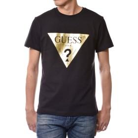 (ゲス) GUESS メンズ ロゴ プリント 半袖 Tシャツ MH2K8501MI (S, ブラック)