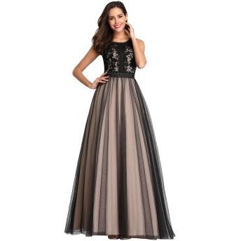 Ever-Pretty レディース 結婚式ドレス レース フォーマル ワンピース パーティー ドレス ロングドレス