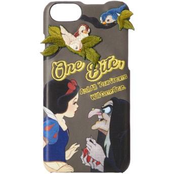 [アコモデ] [Disney] ディズニー スノーホワイト デコレート iPhoneケース 白雪姫 小人 iPhone6/6s/7/8対応 グレー