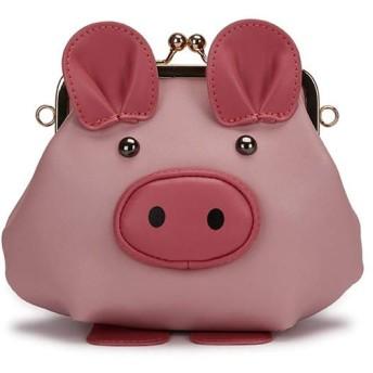 ショルダーバッグ ハンドバッグ 斜め掛け 手持ち ミニバッグ 小銭入れ 耳 鞄 3way レディース フォーマル フェイクレザー 入学 入園 卒業 卒園 ショルダー インスタ映え 通勤 通学 子供 大人 キッズ プレゼント 可愛い 豚模様のバッグ 面白い (ピンク)