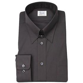 軽井沢シャツ メンズ 長袖ビジネスシャツ (ドレスシャツ) タブカラー ダークブラウン [A10KZZT18] ゆったり型
