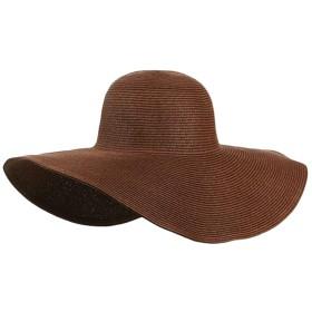 (モダンミス)Mordenmiss リボンハット レデイース つば広 日よけ 麦わら女優帽 ノーマル スタイル7 ブラウン