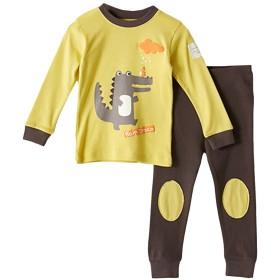 [美しいです] ガールズ パジャマ セット 二枚 新番 フリム ズボン パンツ 女の子 プリント 秋 春 花柄 シャツパジャマ ボーイ 男女兼用  (110, イエロー)