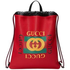 Gucci Gucci プリントドローストリング バックパック - レッド