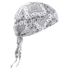 【g-netshop】バンダナキャップ バンダナ コットン 帽子 三角巾 レディース メンズ 調理 アウトドア インナーキャップ 医療用帽子 (ホワイト)