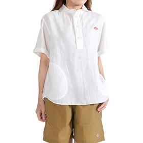 [ダントン] リネン プルオーバーワークシャツ JD-3565 KLS 半袖シャツ (レディース) 36(M) WHITE