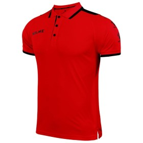 KELME 半袖の折り襟POLOシャツ (レッド, Medium)