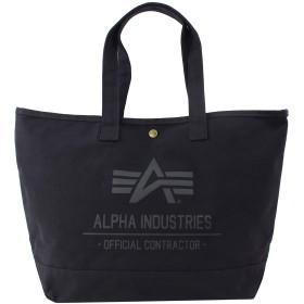 アルファインダストリーズ トートバッグ 帆布 ALPHA INDUSTRIES 男女兼用 (1:40105-BLACK) [並行輸入品]