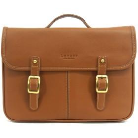 (ロトプ) LOTUFF サッチェルバッグクロスバッグレザーバッグメンズレディースLO-0723 男女兼用 (Lotuff Leather Satchel Bag Cross Bag Unisex) ブラウン [並行輸入品]