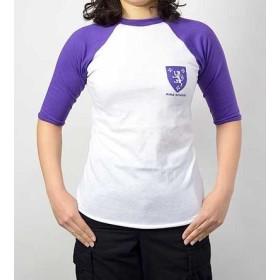 Tシャツ、US.キングスクール、ベースボール(TSBBKINGーM)パープル袖