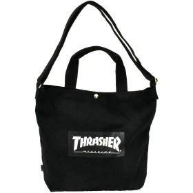 [スラッシャー] THRASHER キャンバス ショルダーバッグ トートバッグ ブラック×ブラック