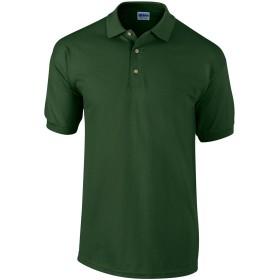 (ギルダン) Gildan メンズ ウルトラコットン ピケ 半袖 ポロシャツ (S) (深緑色)