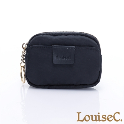 LouiseC. 尼龍簡約萬用零錢包/鑰匙包-黑色 16N37-0045A05