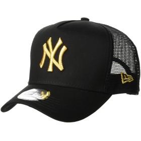 (ニューエラ)NEW ERA 9FORTY D-Frame Trucker ニューヨーク・ヤンキース ブラック × ゴールド キャップ One Size