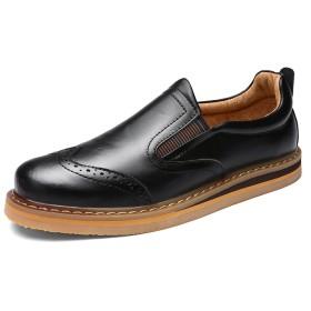 [ファイン・ショップ]スリッポン カジュアルシューズ 歩きやすい 滑り止め 耐久性 かかと無し ローカット お洒落 ビジネスシューズ メンズシューズ 紳士靴 男性用靴 通学 通勤 ギフトにも最適!ブラック 26.5cm
