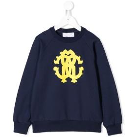 Roberto Cavalli Junior ロゴプリント スウェットシャツ - ブルー