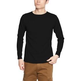 (クリフメイヤー) KRIFF MAYER 日本製 天竺ボートネックロンT(バスクシャツ 長袖Tシャツ 無地ロンT 無地T) 1659902MA M ブラック
