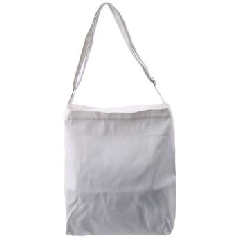 キャンバストートバッグ ファスナー内ポケット付き ホワイト