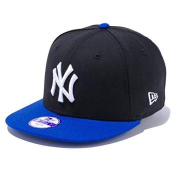 ニューエラ キッズ キャップ 帽子 NEW ERA Youth 9FIFTY ニューヨーク・ヤンキース スナップバック ブラック/ホワイト/ブライトロイヤルバイザー