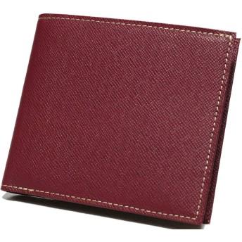レッド 牛革 レザー 二つ折り 財布 極薄 ミニ財布 本革 薄型 大容量 ファスナー メンズ レディース サイフ 小さい財布 ふたつ折り 2つ折り 革 男性 小銭入れあり コンパクト ウォレット おりたたみ 0010125-F-040