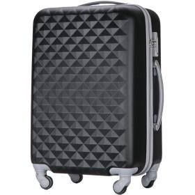 (トラベルデパート) 超軽量スーツケース TSAロック付 ダイヤ柄 Lサイズ ブラック