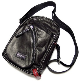 FIFTEEN SIXTEEN ショルダーバッグ メンズ 本革 レザー 斜めがけ ブラック バッグ かばん