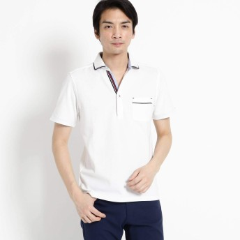(ザ ショップ ティーケー) THE SHOP TK 【親子おそろい】パイピングポロシャツ 61636701 01(S) オフホワイト(003)