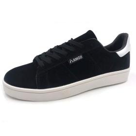 [アモジ] スニーカー メンズ レディース カジュアルシューズ ウォーキングシューズ 靴 黒 ブラック 28.5cm