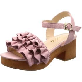 [ウィゴー] レディースファッションサンダル フリルウッドタイプサンダル ピンク 24.0~24.5 cm