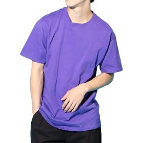 Champion(チャンピオン) Authentic ベーシックTシャツ メンズ 半袖 コットン 無地 XL パープル
