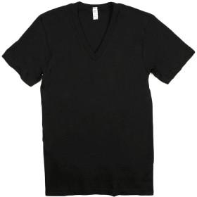 LOSANGELS APPAREL(ロサンゼルスアパレル) 24056 半袖 Vネック Tシャツ ブラック XS