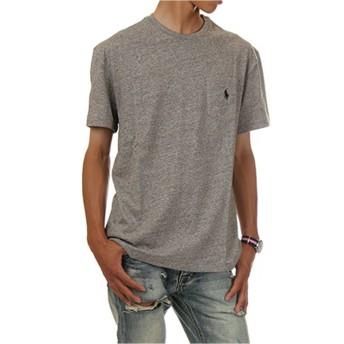 (ポロ ラルフローレン) POLO RALPH LAUREN/Pocket Short Sleeve Tee ポケット ワンポイント 半袖Tシャツ ポケT ユニセックス (XL, ダークビンテージヘザー) [並行輸入品]