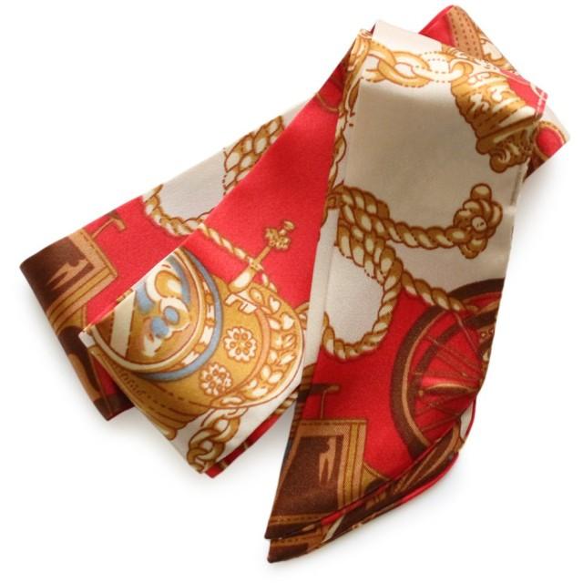 9種類デザイン サテン生地 スカーフ ネックレス JewelVOX(ジュエルボックス) 【スカーフ柄2】 A