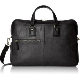 [バジェックス] ビジネスバッグ 薄マチ型 日本製 マチ幅調節機能付き ブラック