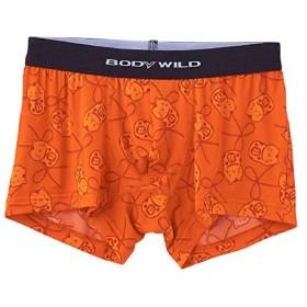 (ボディワイルド)BODYWILD ボクサーブリーフ 招き猫柄 BWG065 オレンジ (L)